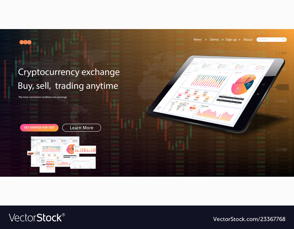 Web Site Template Forex Market News And Vector Image