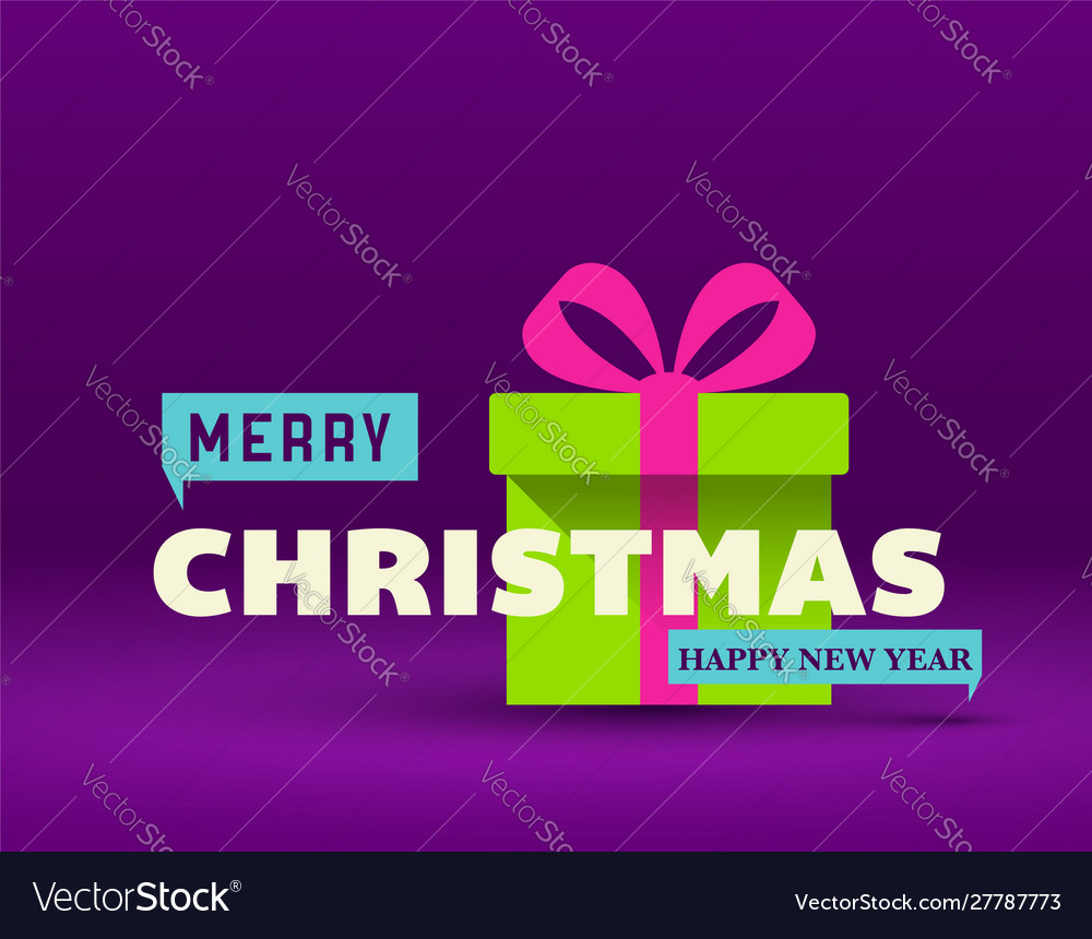 Christmas greeting card flat design