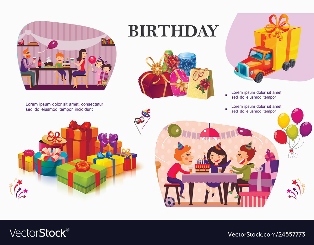 Colorful birthday party concept