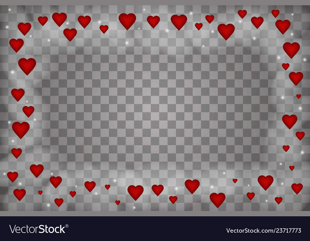 Happy valentines day of love hearts on abstract