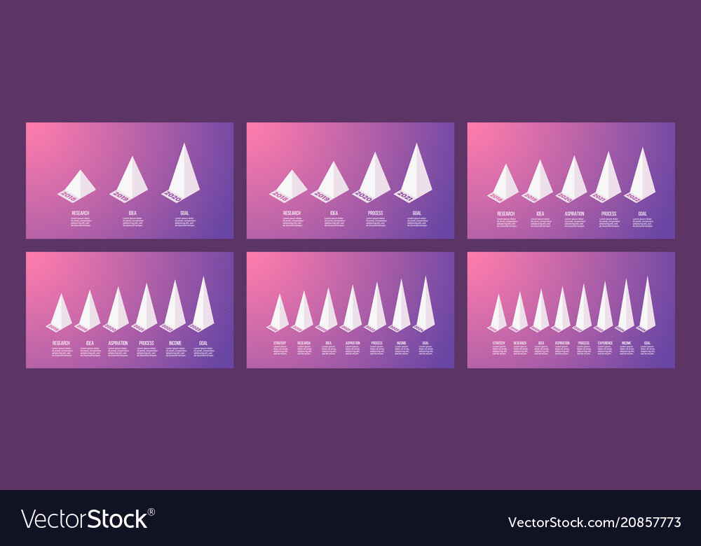 Isometric infographics bar chart graph with 3