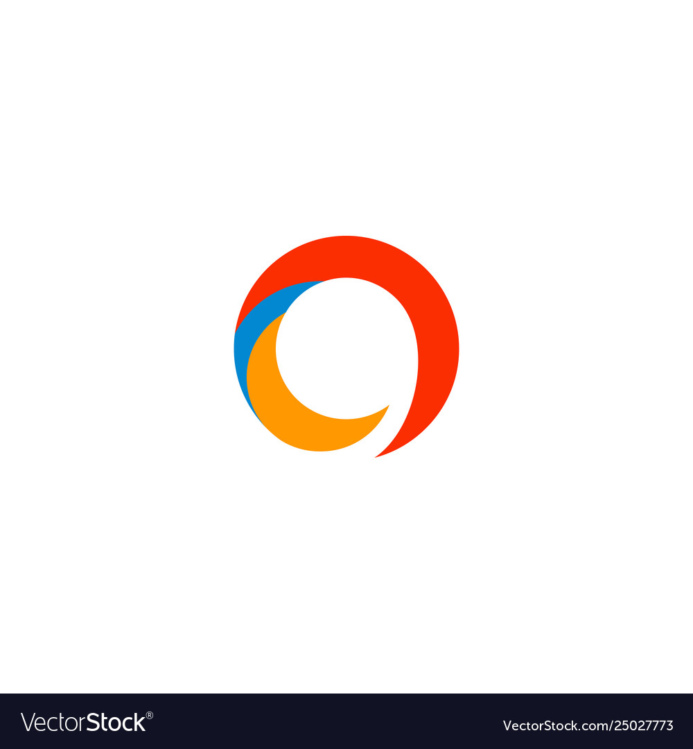 Logotype letter o abstract logo template icon