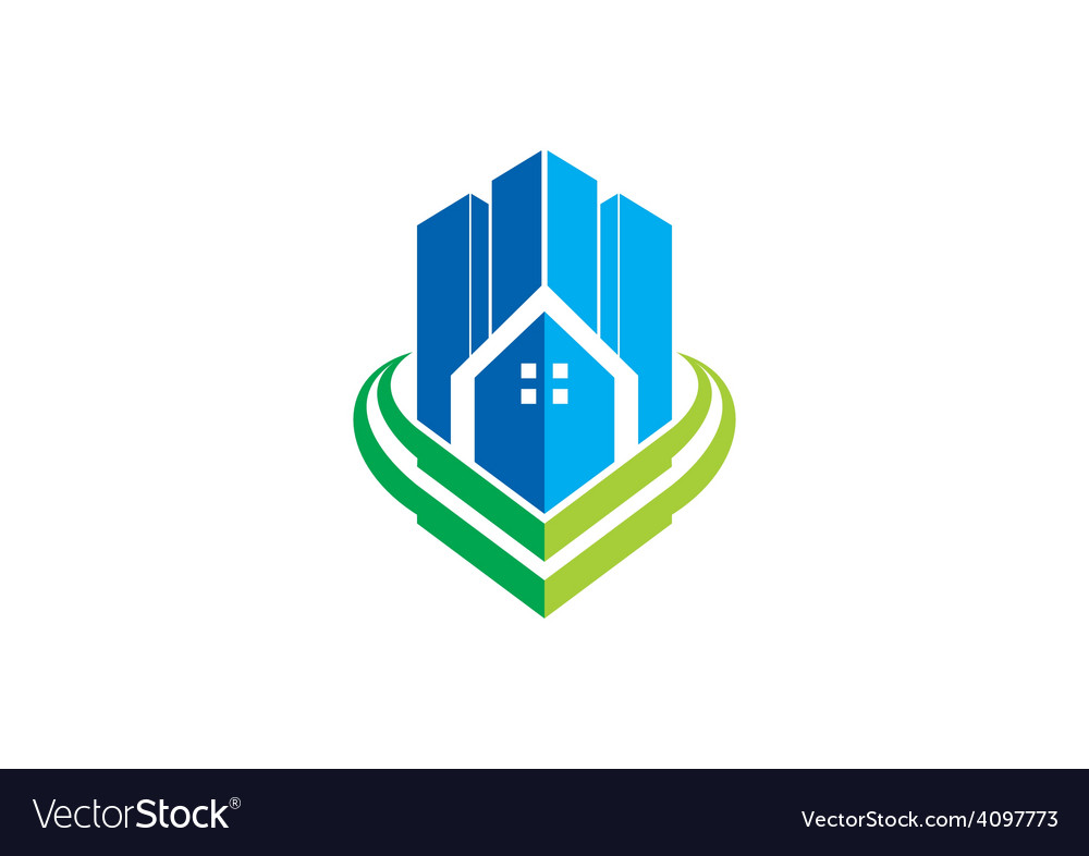 modern building city apartment logo royalty free vector