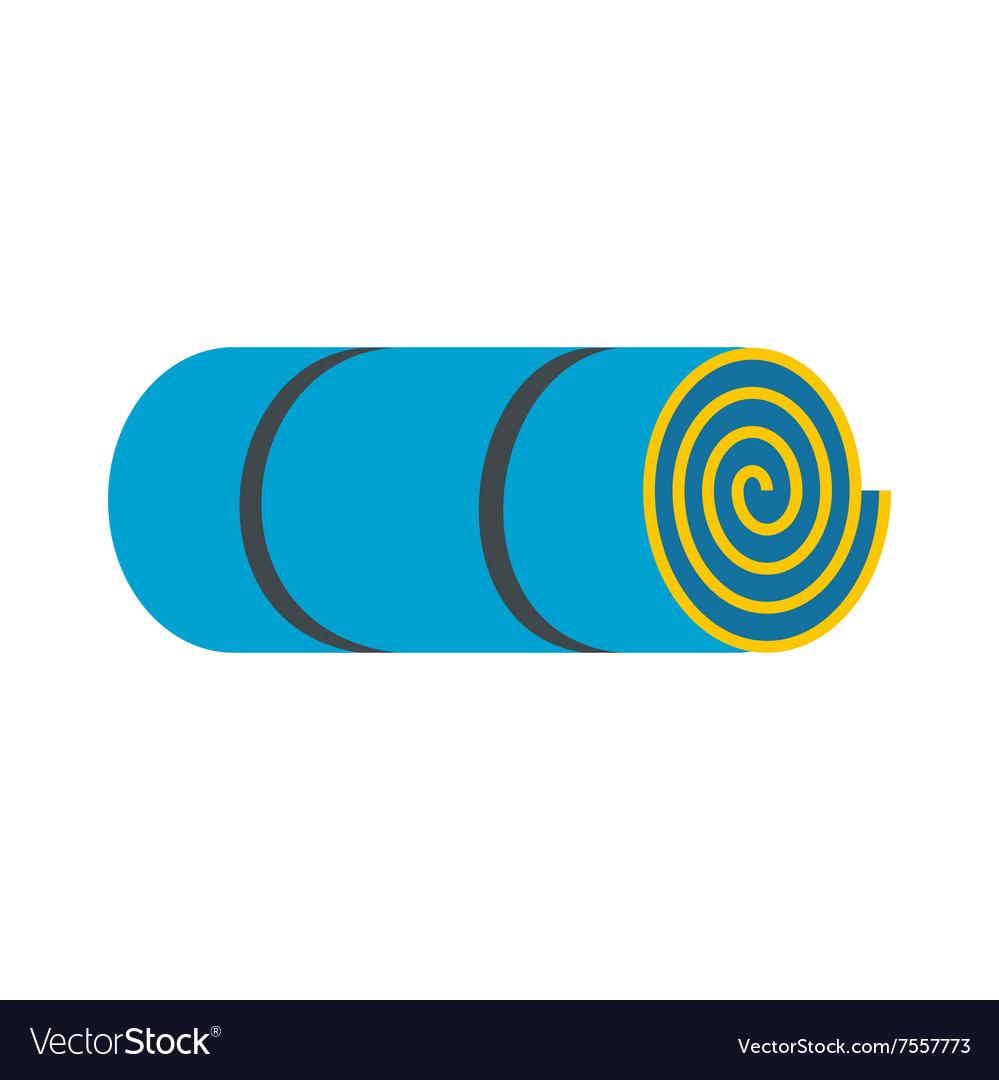 Rolled-up blue tourist mat