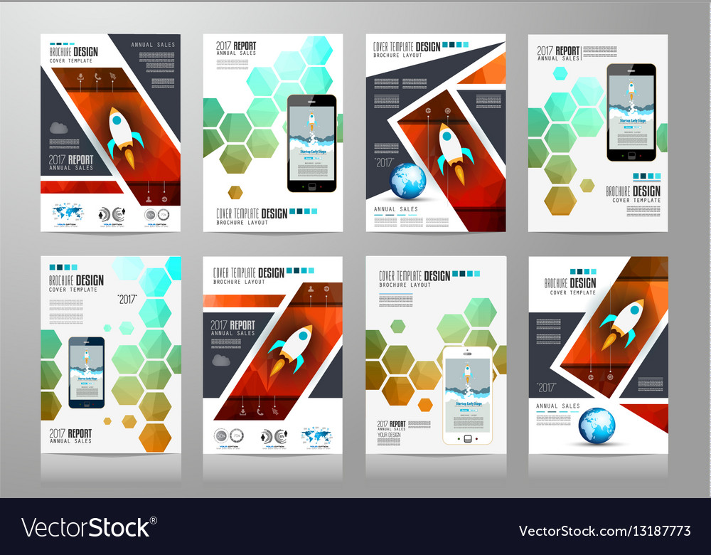 Set of Brochure templates Flyer Designs or