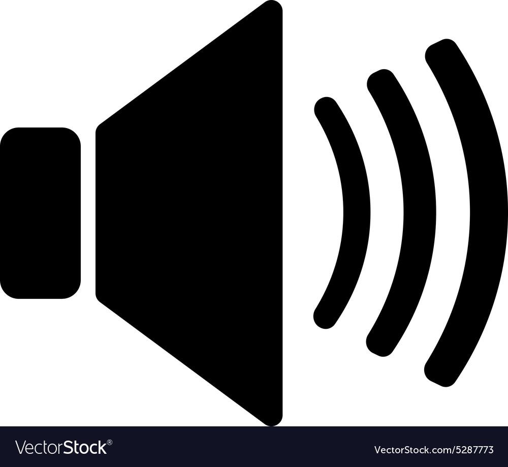 The speaker icon Sound...