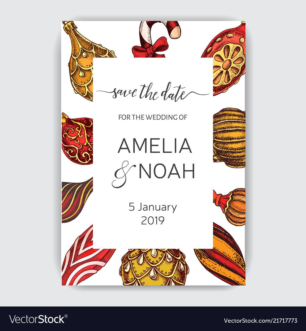 Wedding invitation for the winter ceremony