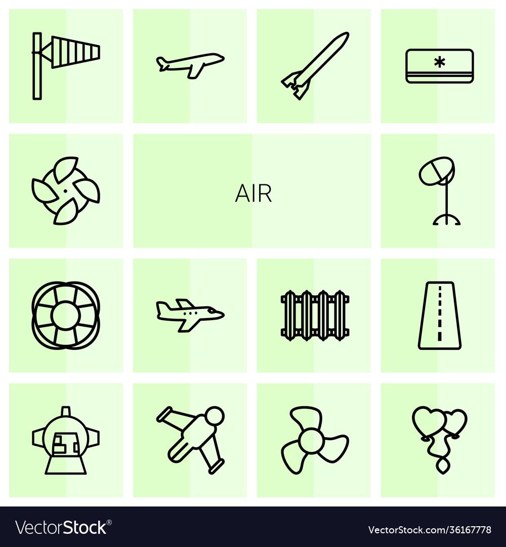 Air icons