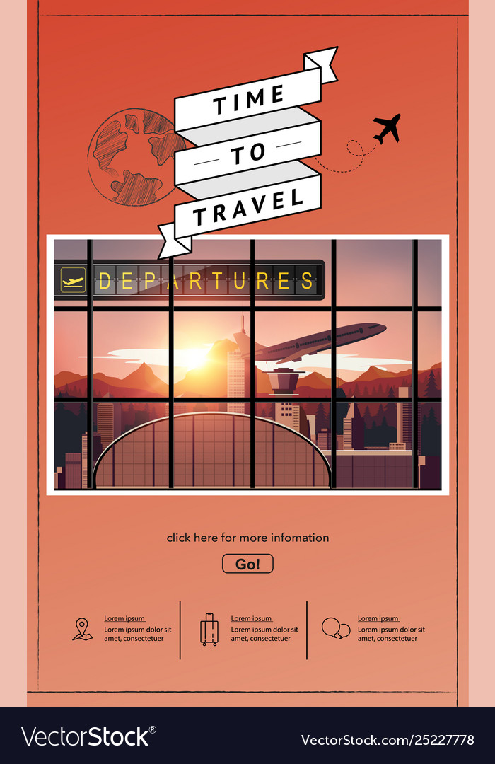 Airport infographic travel design
