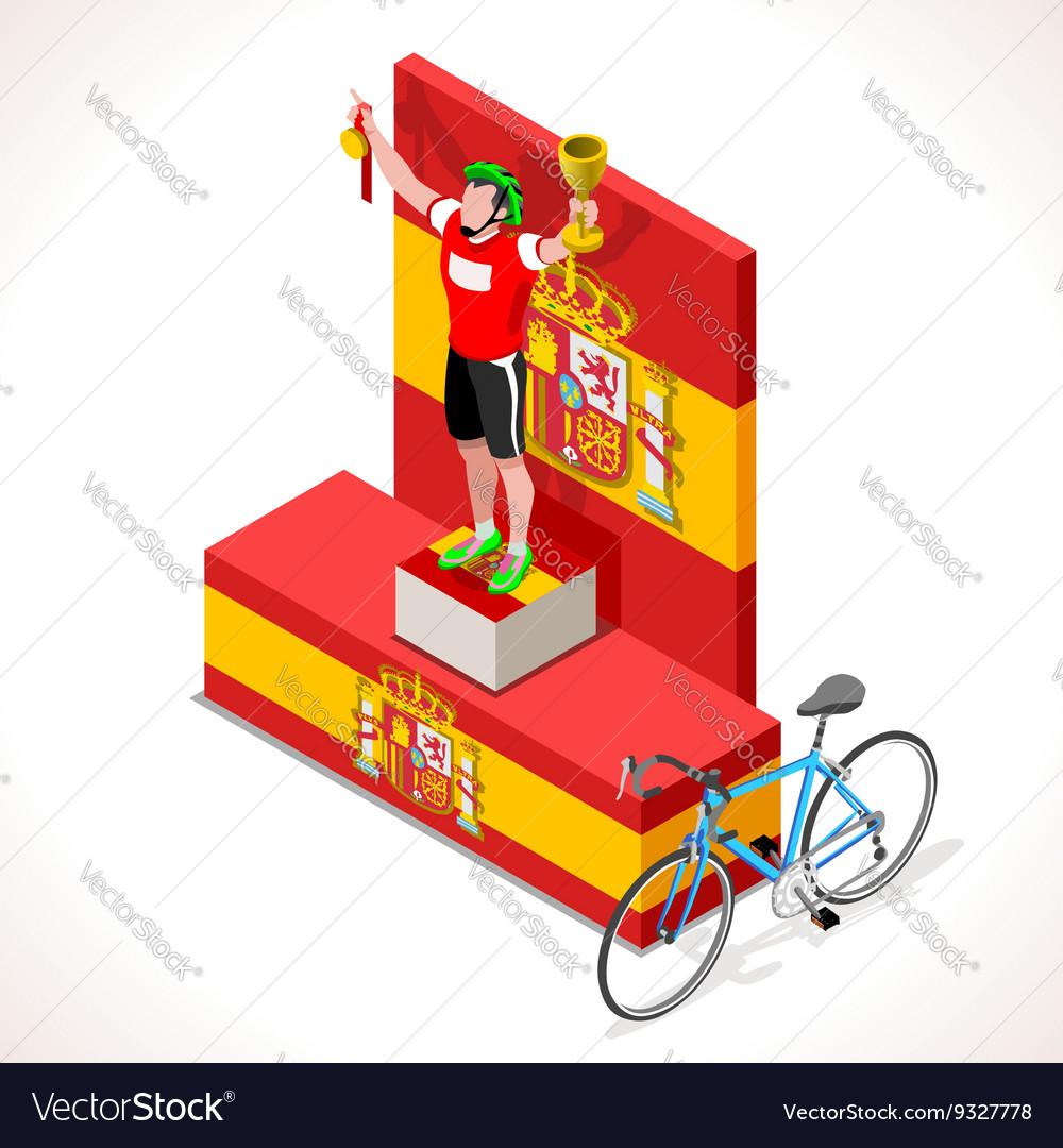 Cyclist Vuelta Winner Isometric People 3D
