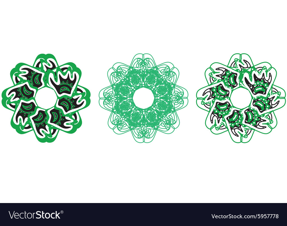 Decorative floral pattern motif vector image