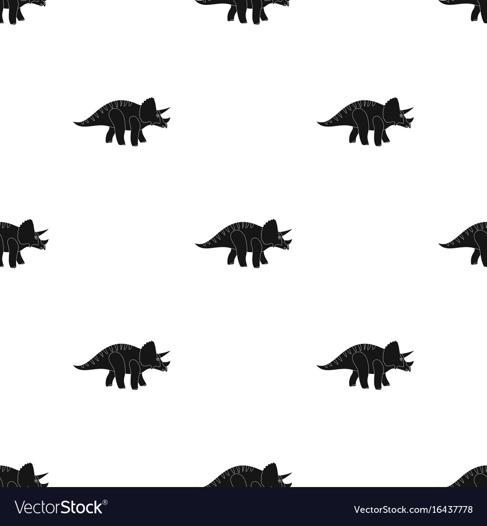Dinosaur triceratops icon in black style isolated