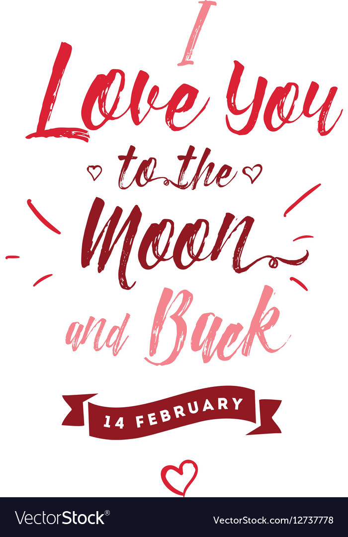 Premium Valentines Day Greeting Card General 'Happy Valentines Day' Moon