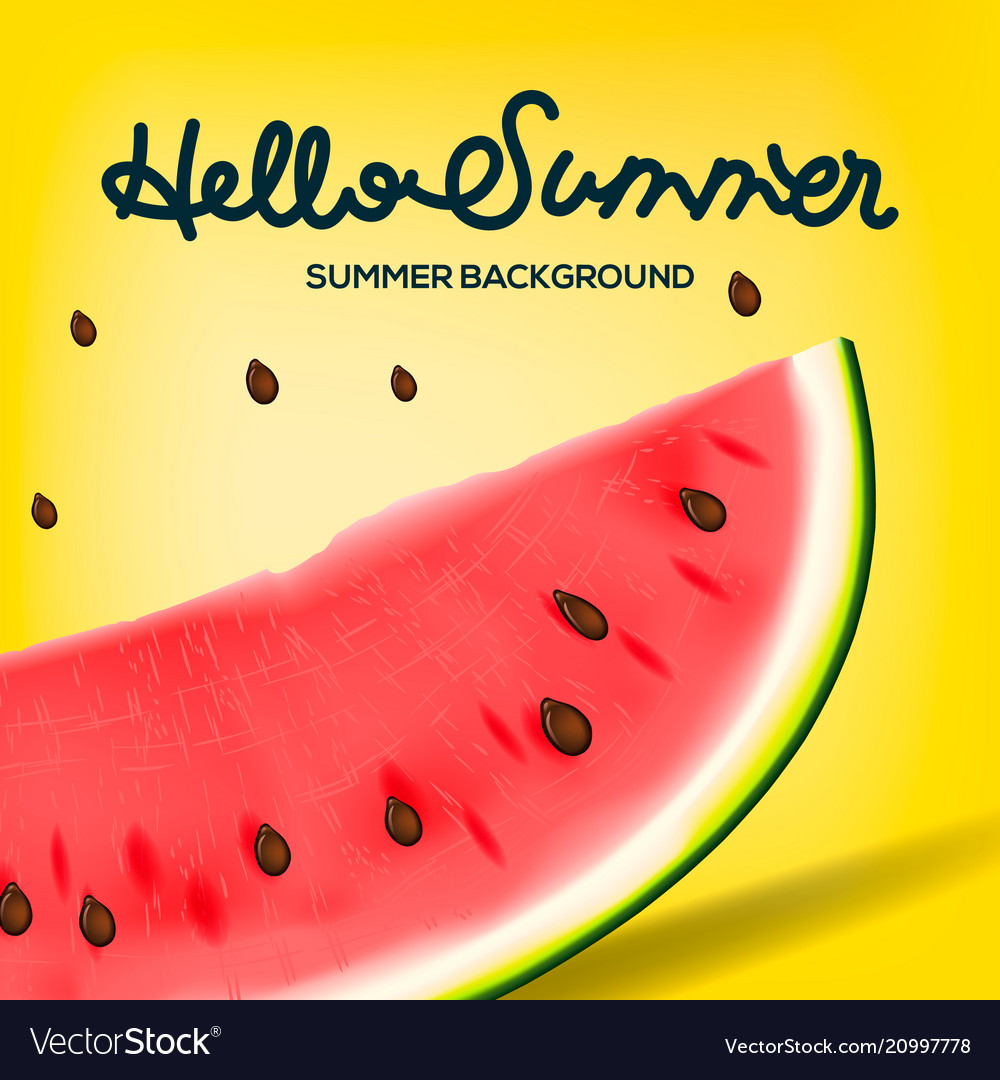 Hello summer inscription on the background of