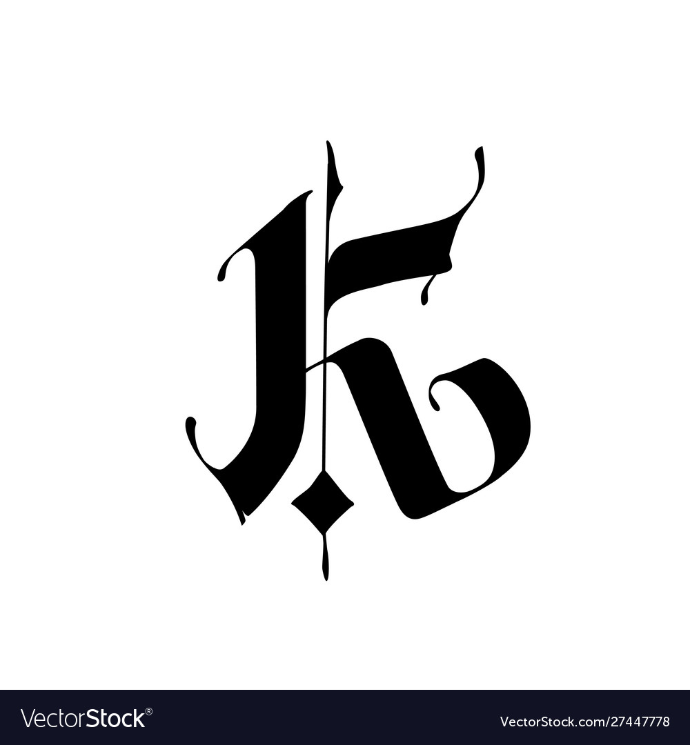 Letter K In Gothic Style Alphabet The Symbol