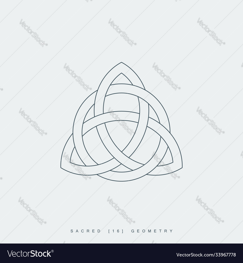 Sacred geometry triquetra