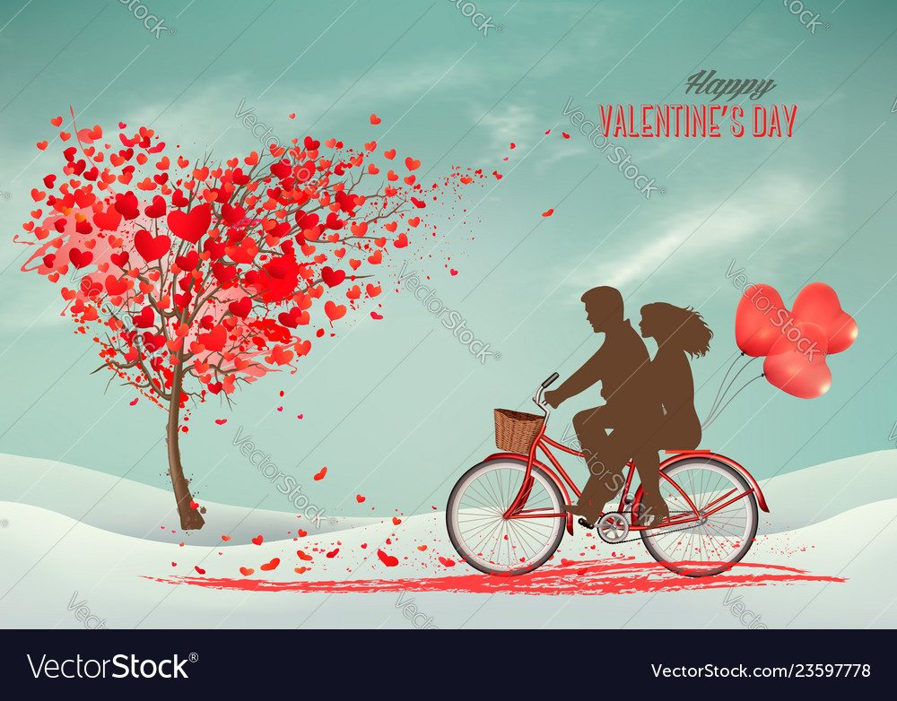 Valentines day background with a heart shaped