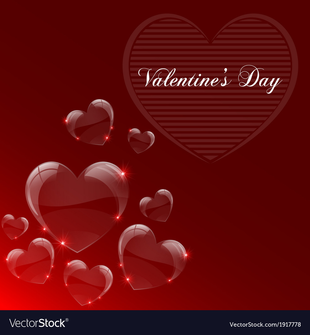 Valentines day celebrate card