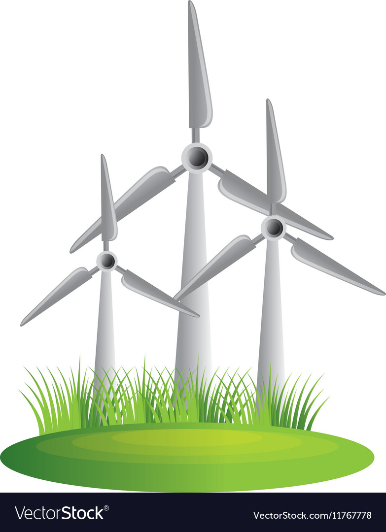 Windmill energy isolated icon vector image