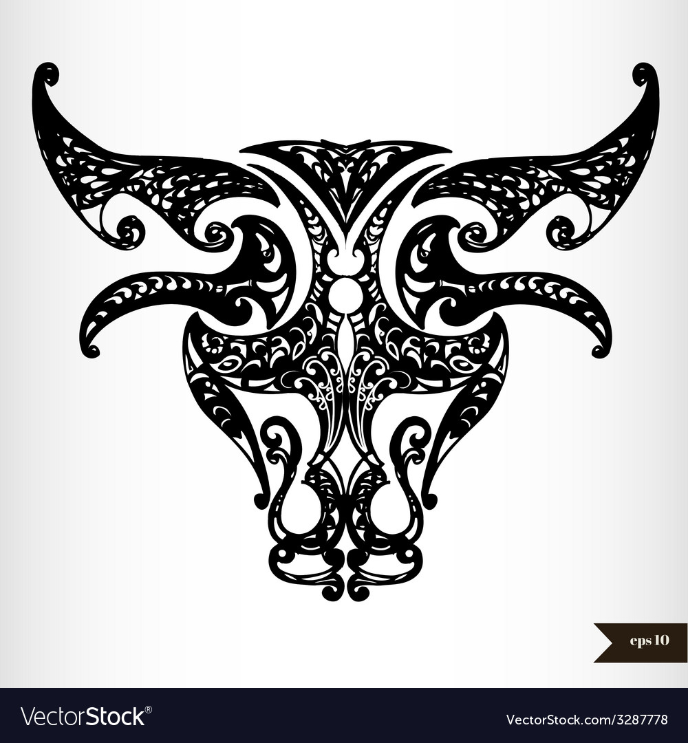 Zodiac Signs Black And White Taurus Royalty Free Vector