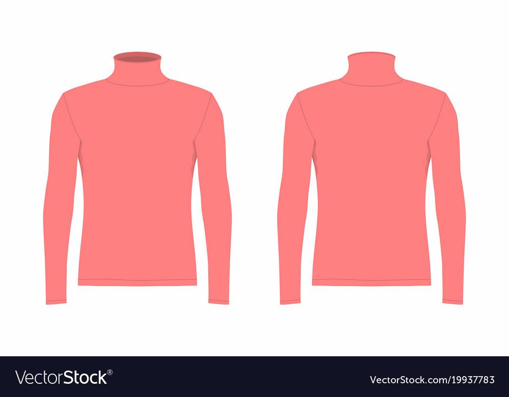 e1e309b8 Mens red long sleeve t shirt Royalty Free Vector Image