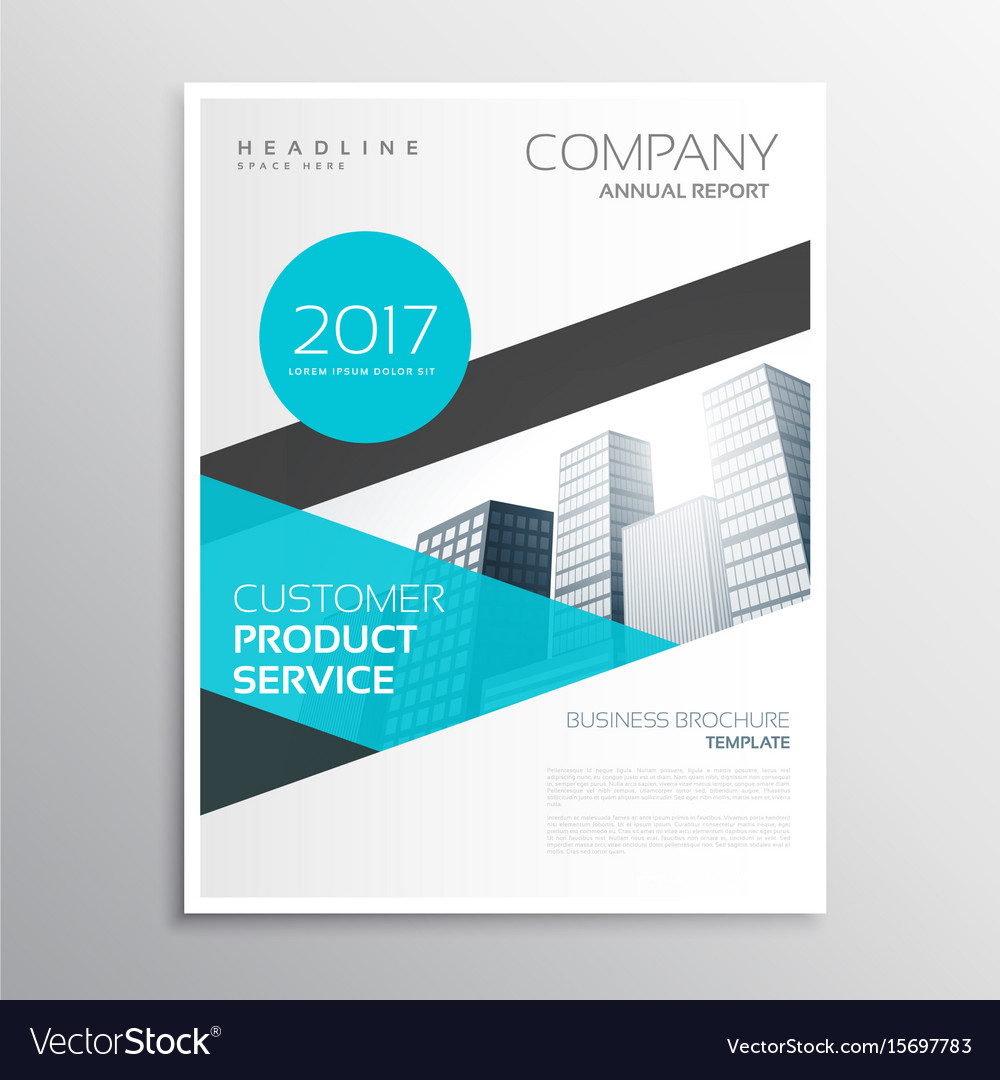 Modern blue business brochure template poster vector image wajeb Image collections
