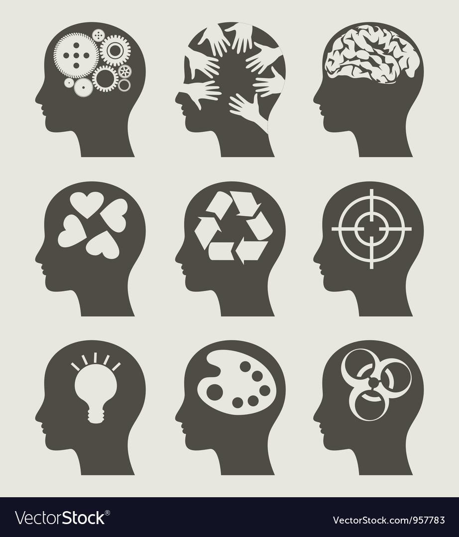 Set a head vector image