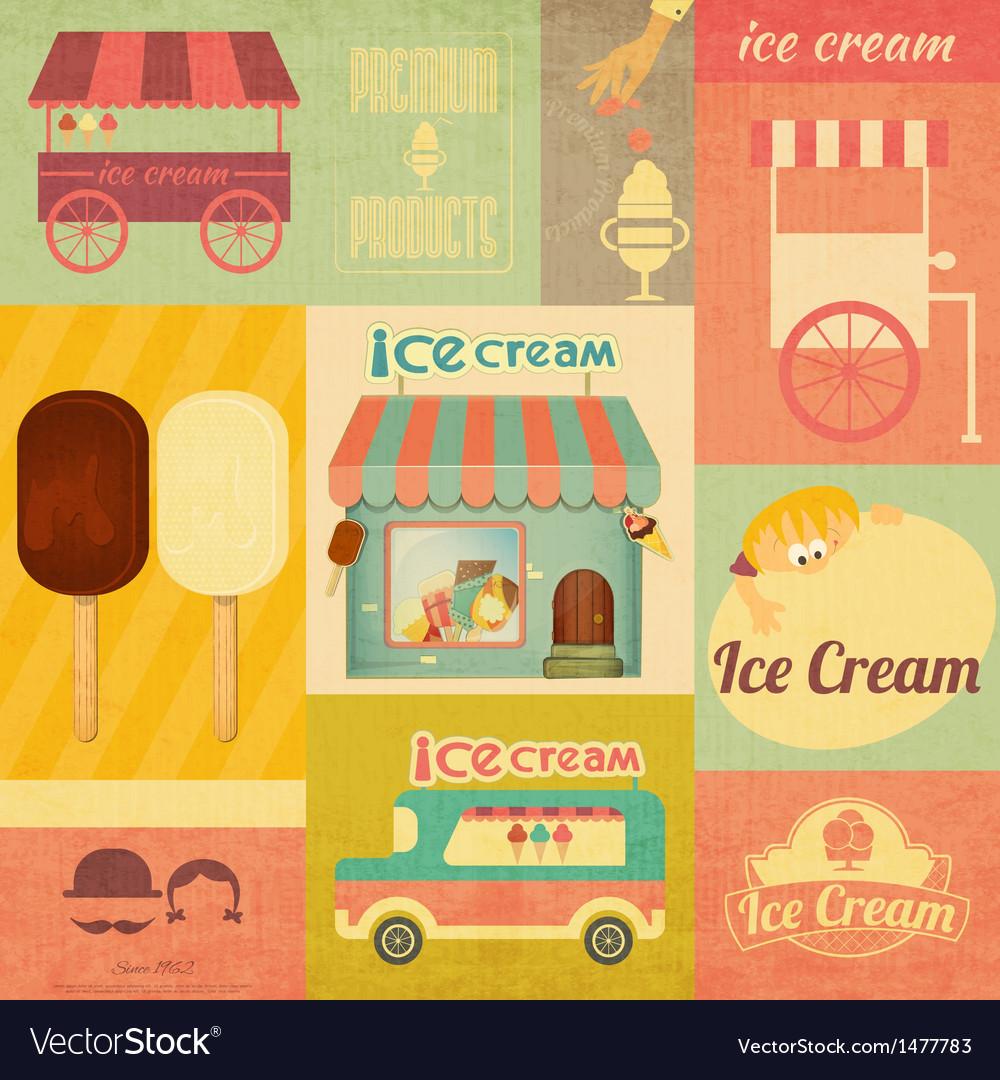 Set of Ice Cream Design Elements