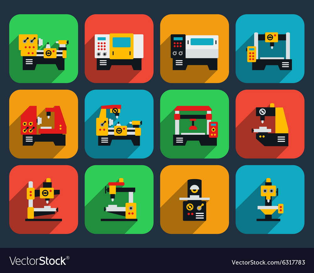 Special machine tools flat icon vector image