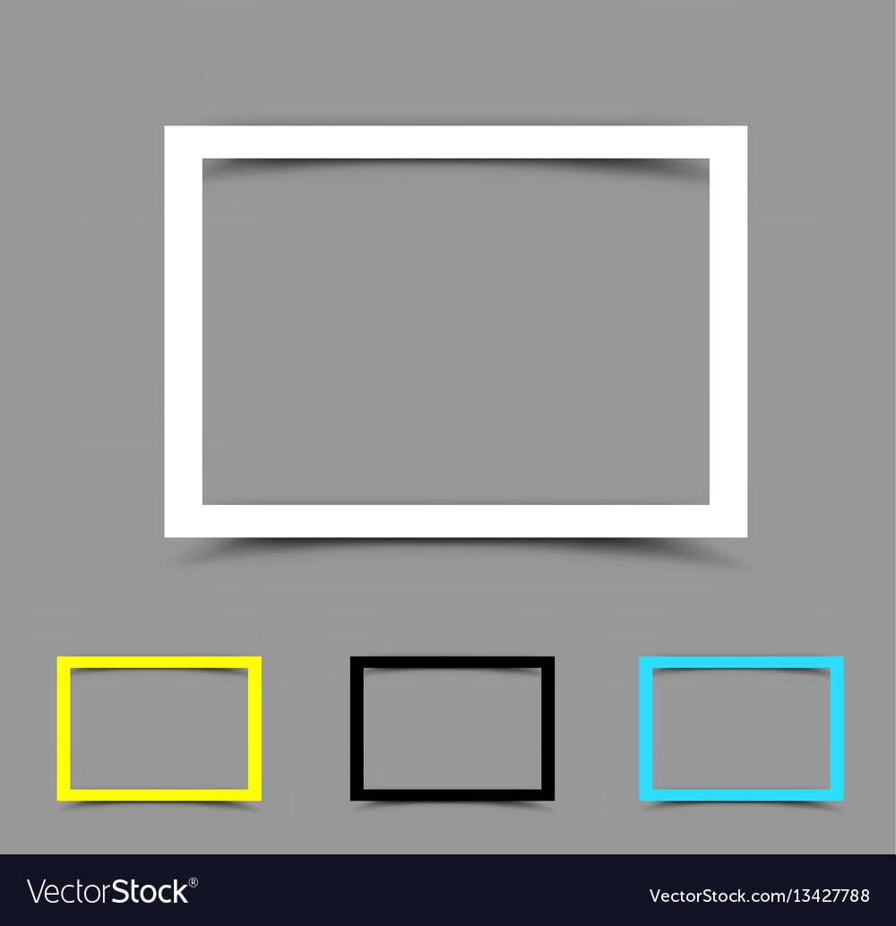 A4 paper frame horizontal
