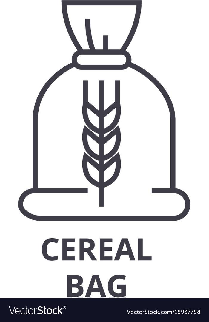 Ceral bag line icon outline sign linear symbol