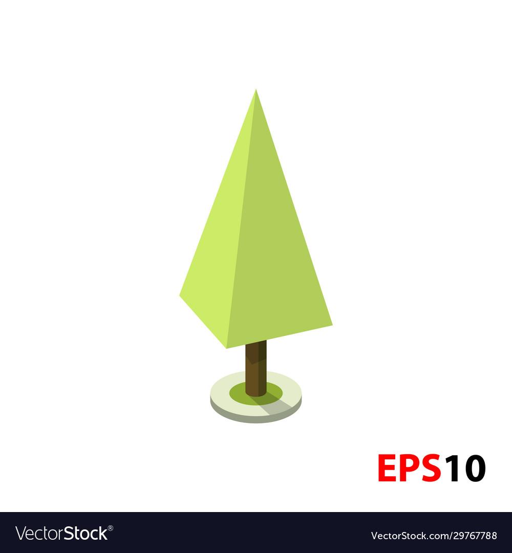 Green tree isometric