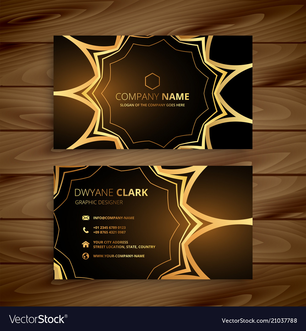 Luxury business card in golden style royalty free vector luxury business card in golden style vector image colourmoves