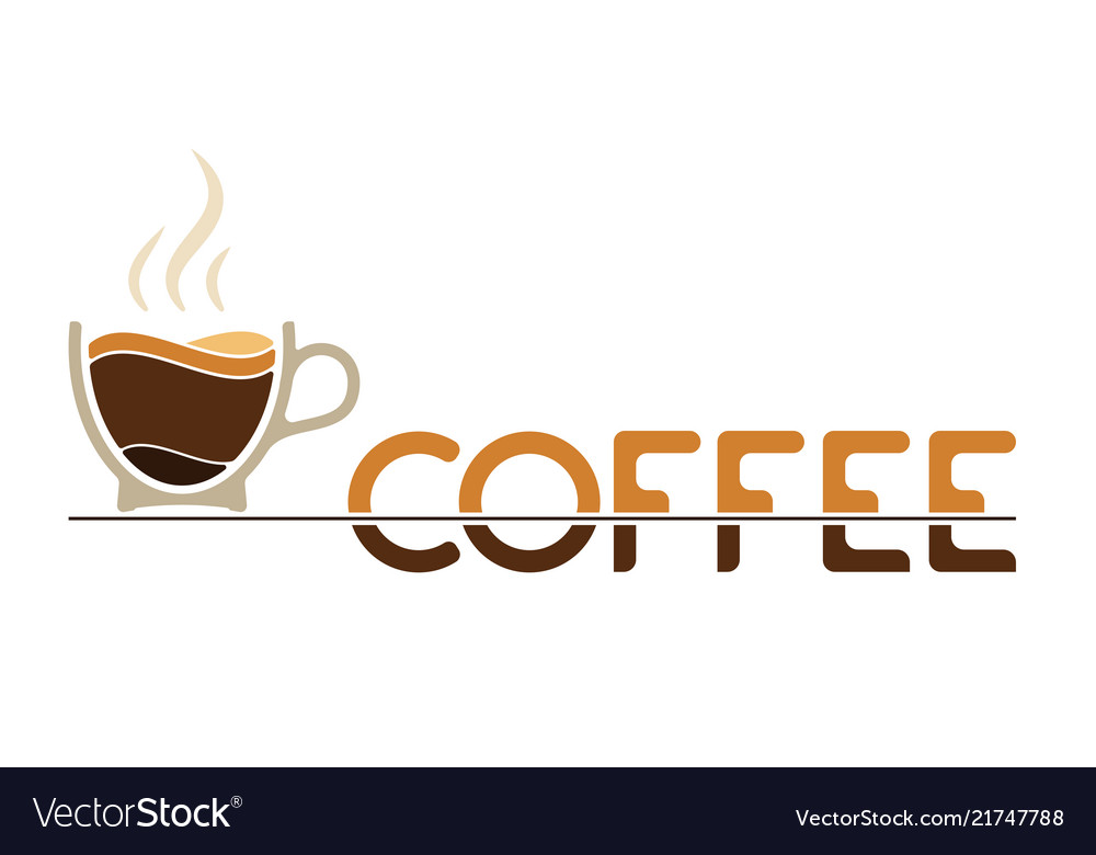 Morning cup of coffee for waking up logo or