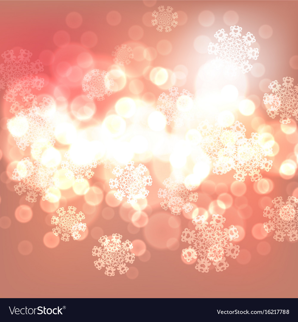 Orange christmas lights background
