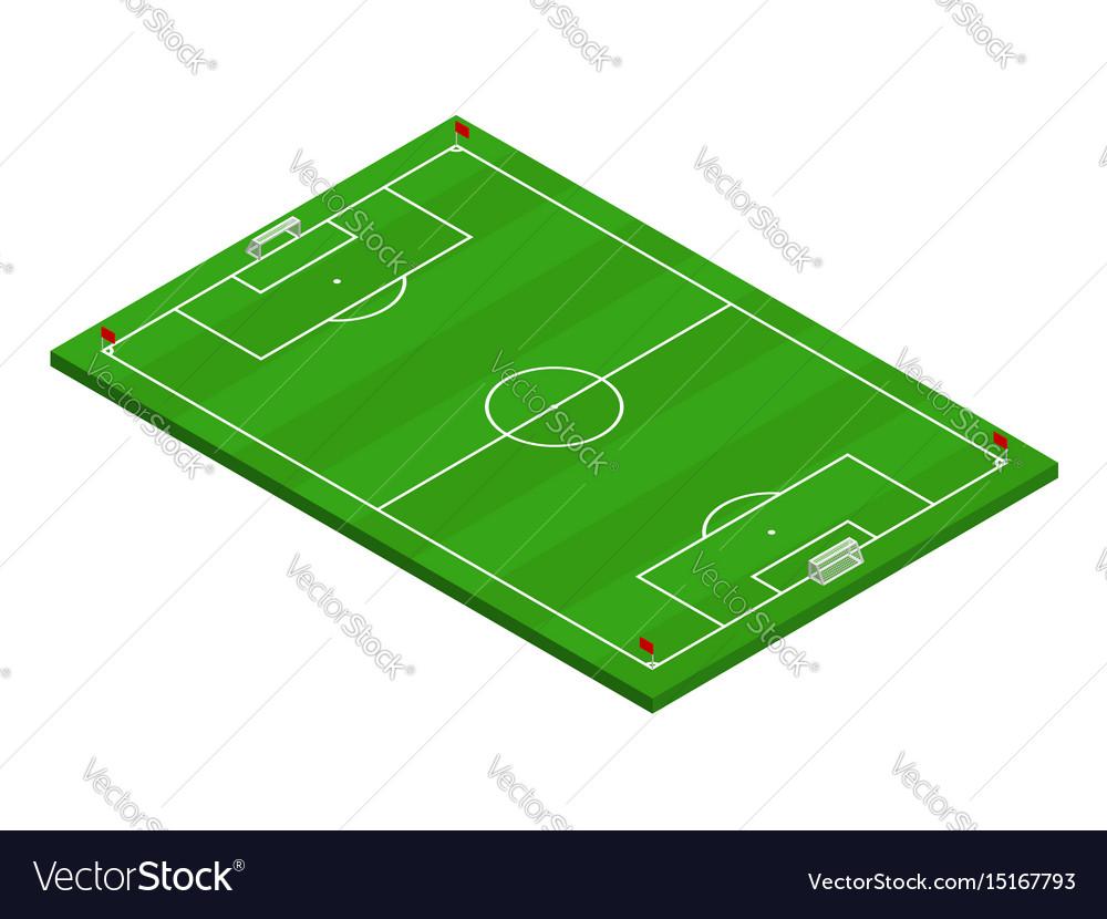 3d isometric football soccer field