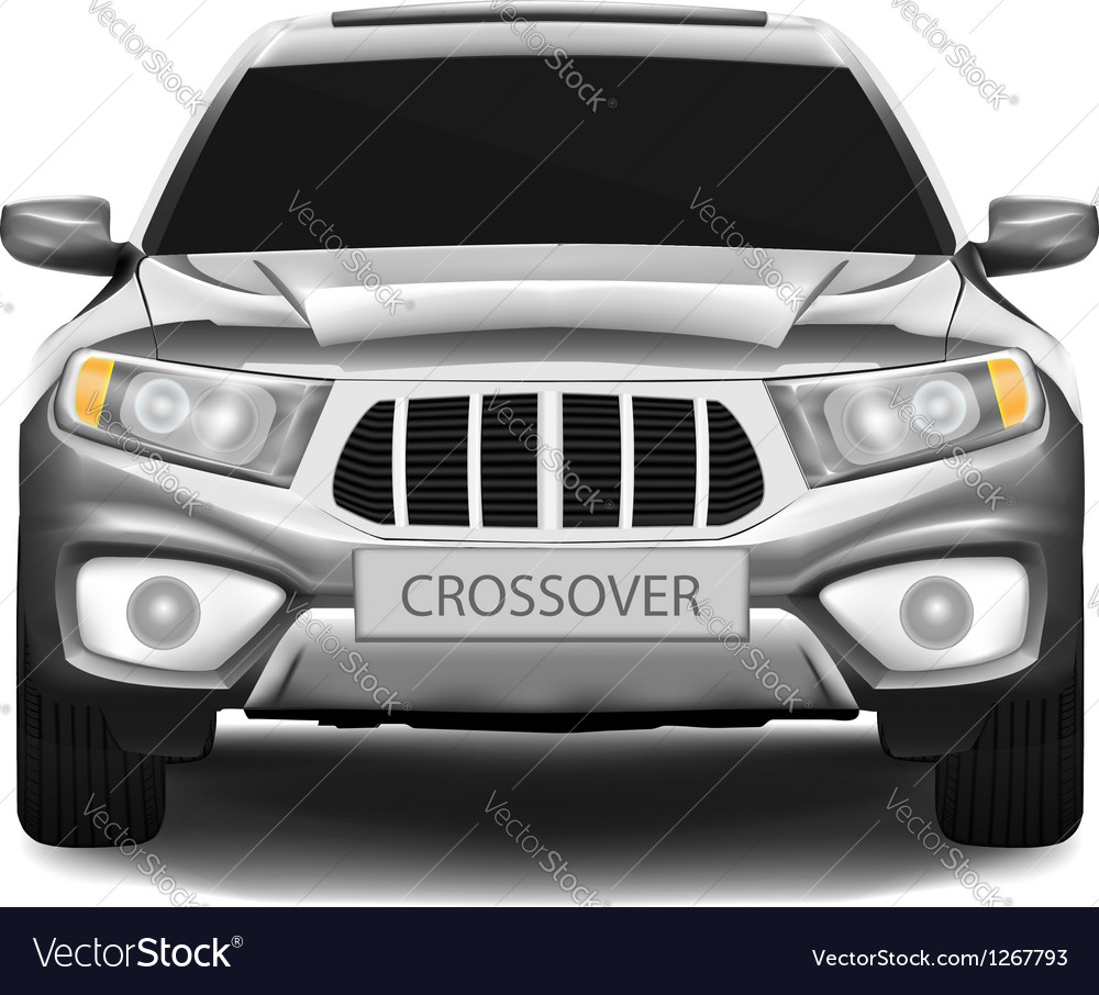 Crossover car isolated on white background