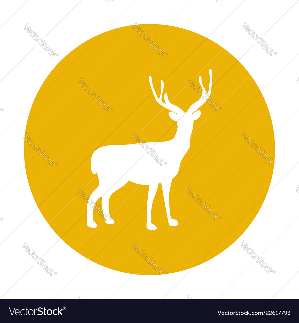 Deer silhouette icon forest animal