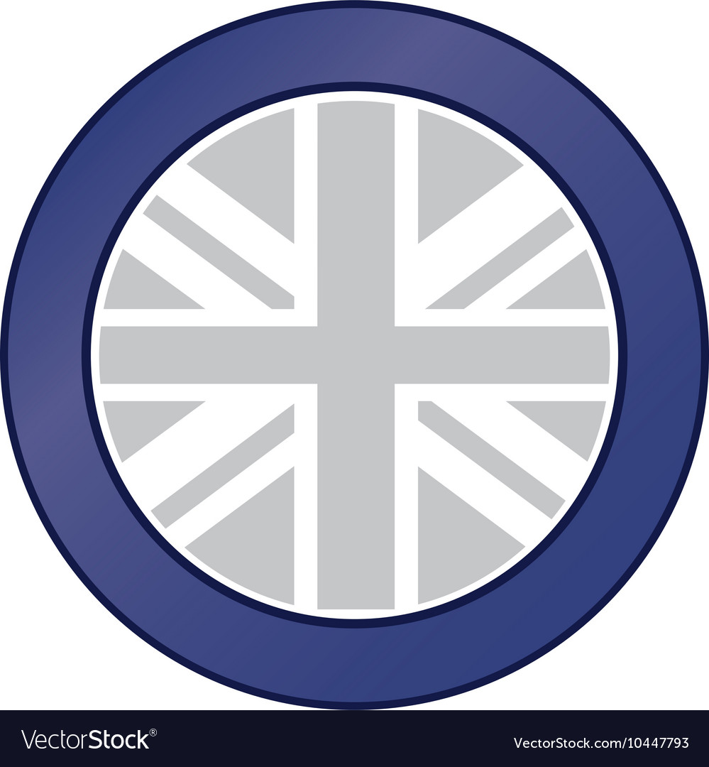 Great britain flag emblem icon