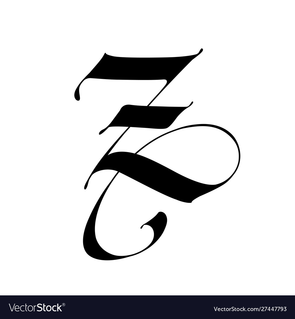 Tattoo Letter Z Alphabet Vector Images 44 With daniel craig, rooney mara, christopher plummer, stellan skarsgård. vectorstock
