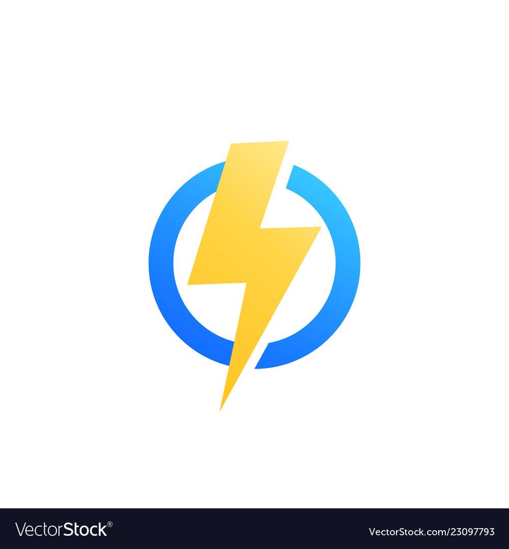 Lightning bolt icon logo