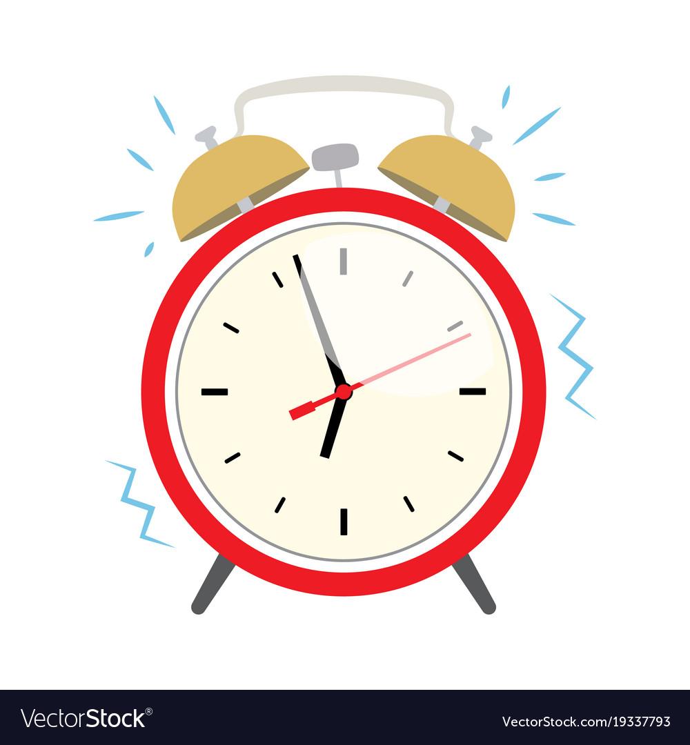 ringing alarm clock royalty free vector image vectorstock rh vectorstock com alarm clock vector free download alarm clock factory shop