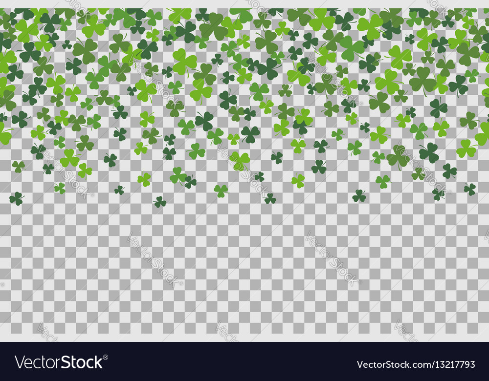 Seamless pattern with clover leafs for st patricks