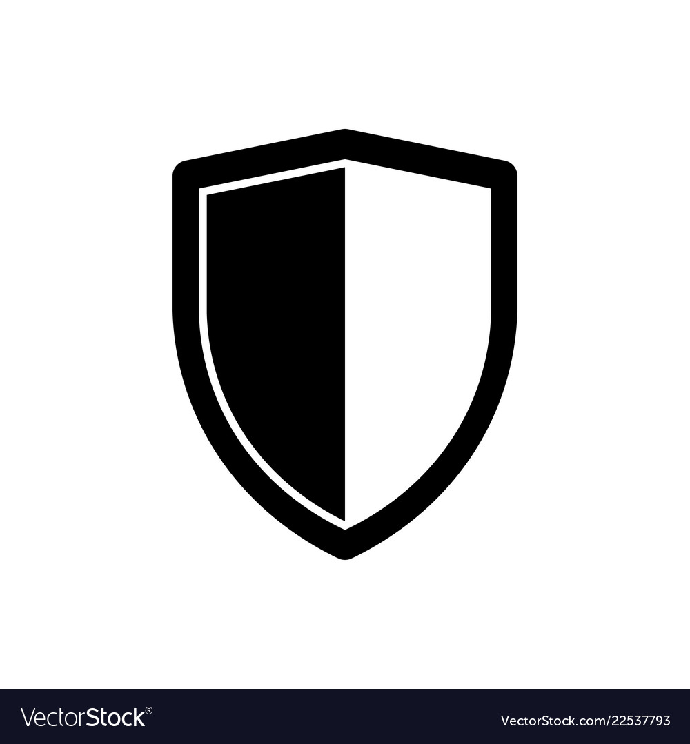 Shield Icon Security Symbol Safety Sign Royalty Free Vector