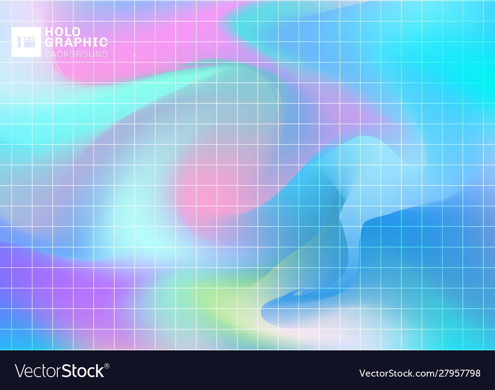 Abstract holographic iridescent smooth background