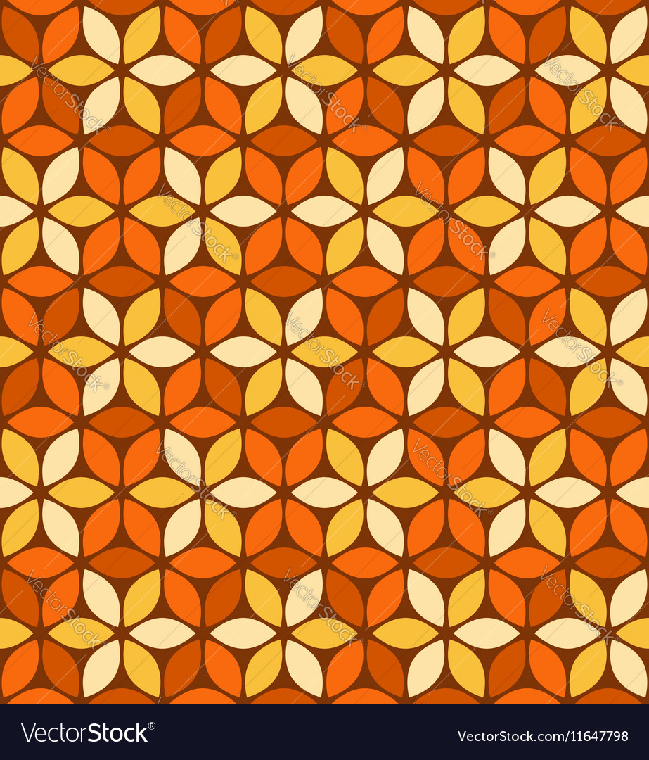 Abstract orange floral pattern