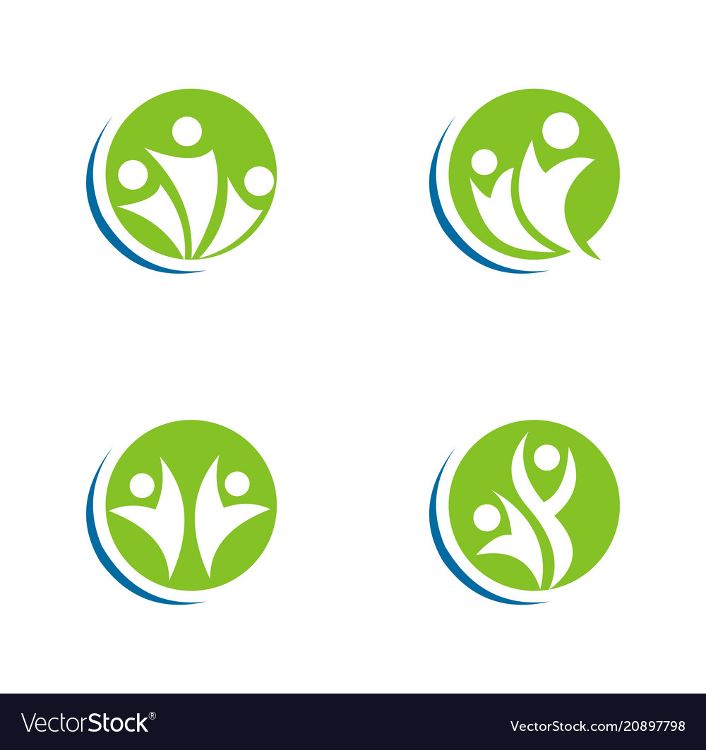 Abstract people logo vector image