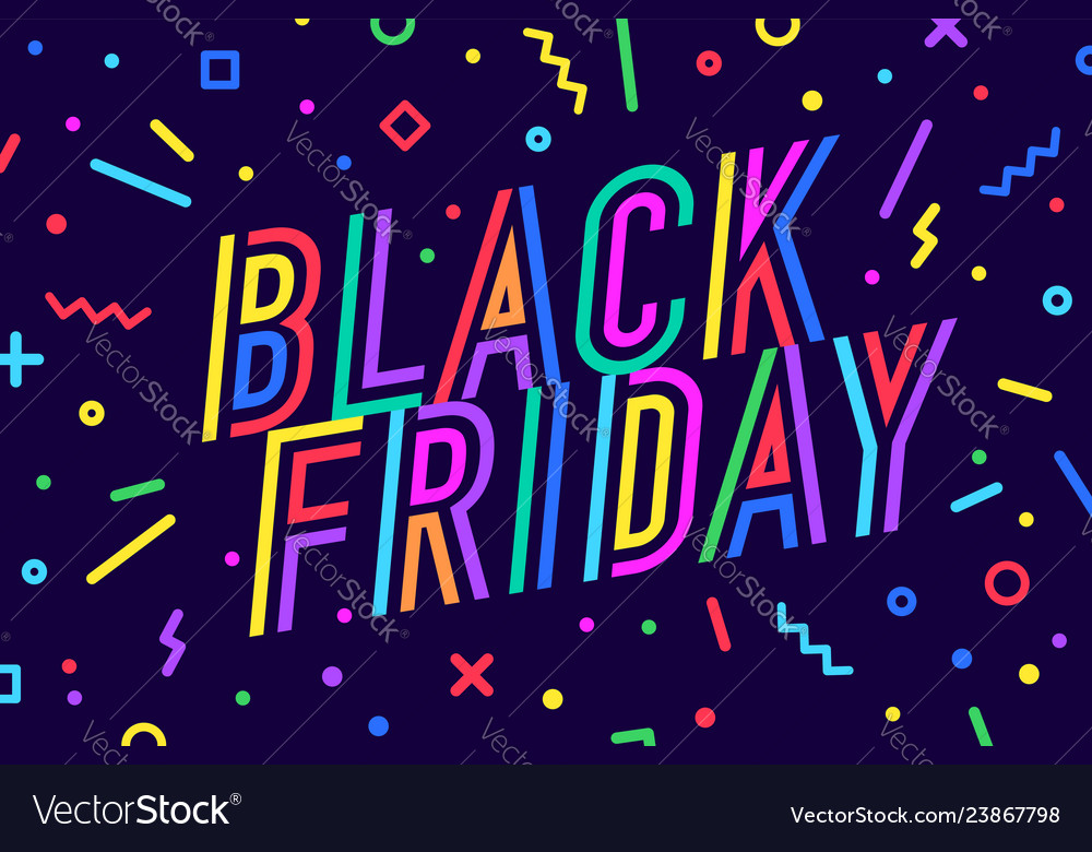 Black friday greeting card banner poster and