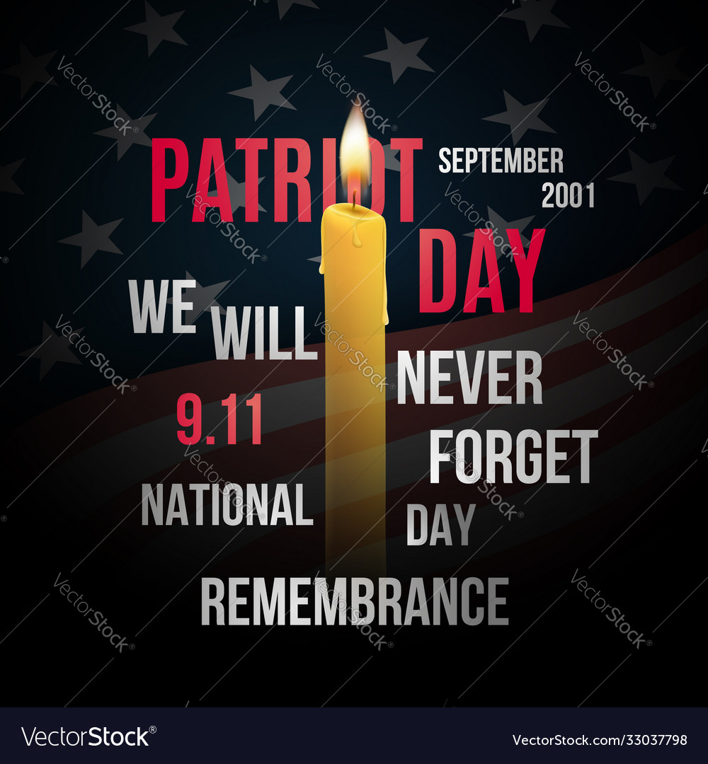 Concept design for patriot day with flag usa