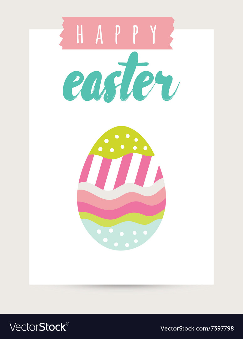 Easter card festive background element